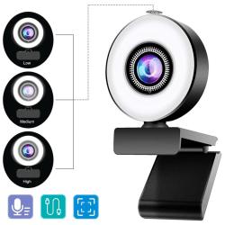 2K/1080P HD USB Web Camera Webcam Video Calling Laptop Desktop 1080P