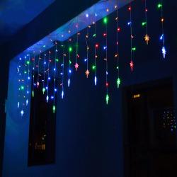3.5M 96 LED Polaris Lighting Light Curtain Christmas Party Decor Multicolor