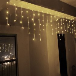 3.5m 96LED Light Wave Curtain Christmas Light Chain Tree Decor Warm White