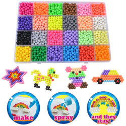 3200Pcs Water Beads Refill 24 Assorted Color Packing Toys 24 cells