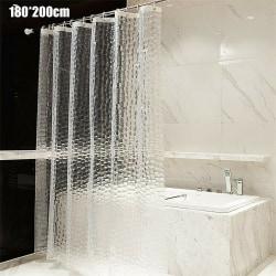 3D EVA Clear Waterproof Plastic Diamond Shower Curtain 180*200cm