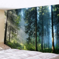 3D Forest Tapestry Wall Hanging Art Bedspread Home Prydnad D 200*150CM