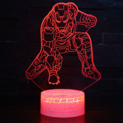 3D LED Spiderman Night Light Table Desk Lamp Children Kids Gifts