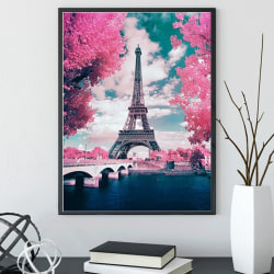 5D Diamond Painting Eiffel Tower Painting Stitch Home Art Decor