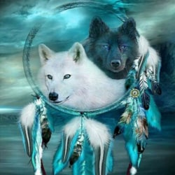 5D Wolf Dreamcatcher Diamond Painting Drill Kits Home Decors