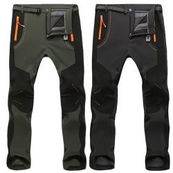 Mens Cargo Pants Pocket Trousers Warm Outdoor Climbing gray M