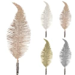 6Pcs 22cm Christmas Tree Decoration Clip On Feather Ornament White