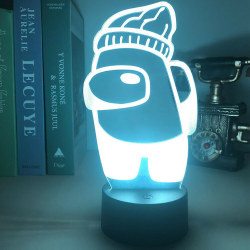 Among Us 3D LED Night Light Multicolor USB Touch Sensor Lamp
