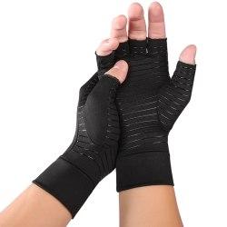 Anti-Arthritis Half Finger Sports Copper Compression Gloves M