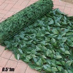Artificial Fake Ivy Leaf Fence Screen Hedge Trädgård Outdoor Green leaf dark green