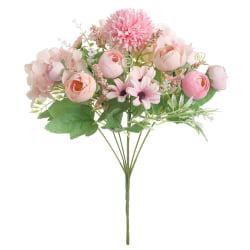 Artificial Flowers Bouquet Bush colorful tea Rose Wedding Decor light pink 1pcs