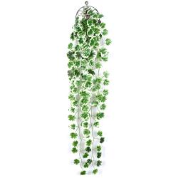 2pcs Fake Ivy Vine Fake Flowers Hanging Garland Plants Decors F 2PCS