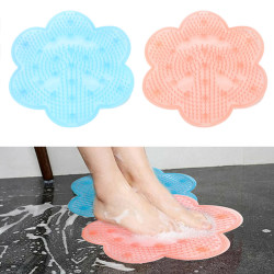 Bathroom Foot Massage Pad Silicone Suction Non-Slip Pink