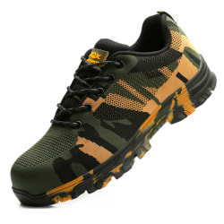 Camoufage Utility Men Safety Industrial Shoes Black Grey 40