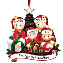 Julprydnad Xmas Tree Family Santa Hanging Decor Presents