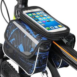 Cykel Cykelväska Frontpåse Väska Mobiltelefonhållare blue