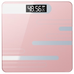 Digital Bathroom Scale Body Subjects Weighing Scale Pink 26*26cm