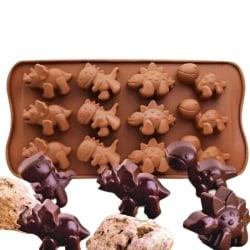 Dinosaurie silikonchoklad mögel tårta dekorera bakverktyg