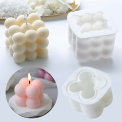 DIY Cube Candles Mold wax Candles Plaster Candle 3d Silic Four goals in a row