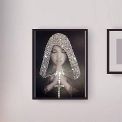 5D DIY Diamond Painting Sequin Pray Women 30*40cm