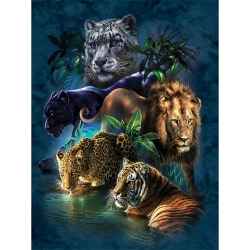 DIY Drill 5D Colorful Animals Diamond Painting Kit Decors