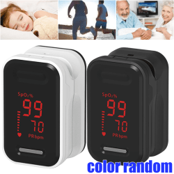 Visible Health Monitor Finger Test Heart Beat Meter Kid Adult white