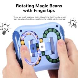 Fidget Rubiks Toys Sensory Magic Cube Stress Game Kids Gift blue