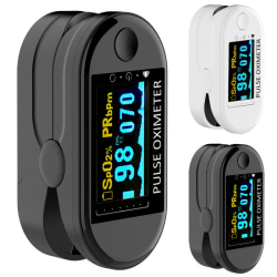 Finger Blood Saturation Monitor Heart Rate Black