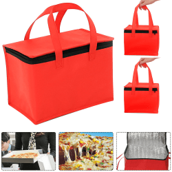 Delivery Bag Red Insulated Thermal Storage Outdoor Picnic red