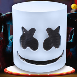Full Head Marshmallow DJ Masks White