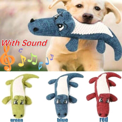 Funny Soft Pet Puppy Chew Play Squeaker Squeaky Cute Plush Blue