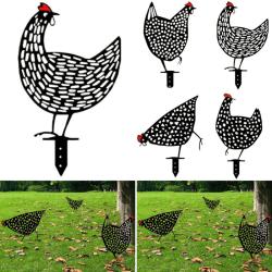 Trädgårding Ornaments Chicken Yard Art Backyard Lawn Decor E
