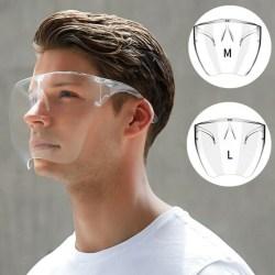 Glasögon Transparent Clear Skyddande Visir Plast M
