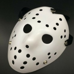 Halloween Party Jason Vorhees Painted Hockey Mask Costume Props All White