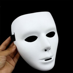 Halloween White Dance Anonymous Plastic Cosplay Fancy Props Man-White