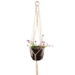 Handgjorda Macrame Plant Hanger Flower Pot Holder Hanging Rope
