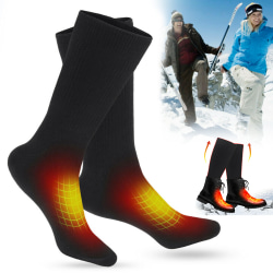 Heated Warmer Boots Long Socks Foot Winter Thermal Stockings Black frame 1