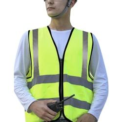 Hi Vis Vest High Viz Visibility Waistcoat Safety Work Vest Yellow 2XL