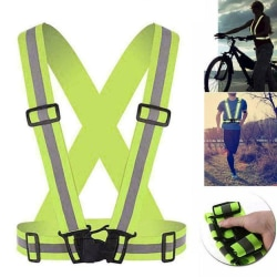 Hi Viz Vest High Reflective Belt Vis Safety Harness Black