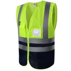 Hi Viz Vest High Visibility Waistcoat with Pockets Breathable Green 2XL