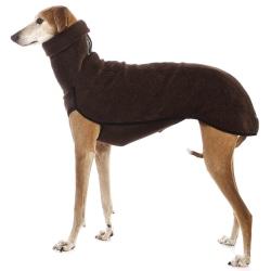 High Collar Dog Clothes Medium Large Pet Warm Winter Coat Brown XL