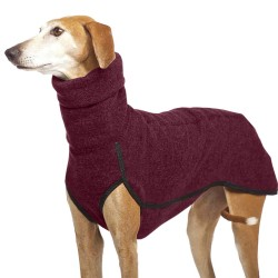 Hög krage Hundkläder Medium Stor husdjur Varm vinterrock Wine Red 3XL