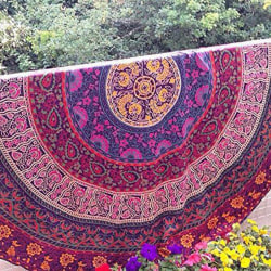 MultiColour Beach Wall Hanging Poster Tapestry Hippie Boho A