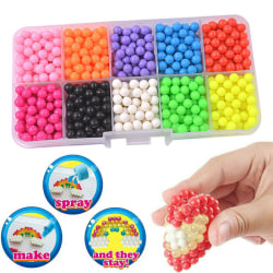 Kids Creative Toys Water Fuse Beads 10 Color Packing Beads Art 10 cells