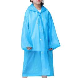 Barn Unisex Regnrock Hooded Vattentät Vandring Camping Rainwear Blue
