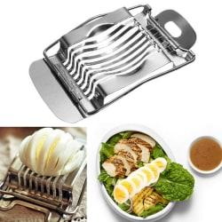 Rostfritt stål äggskivare Cutter sektion Chopper köksverktyg