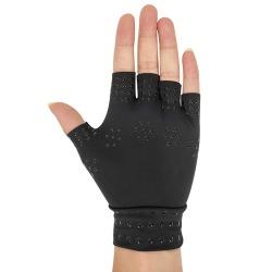 Magnetic Copper Compression Gloves Arthritis Half Finger Hand #2