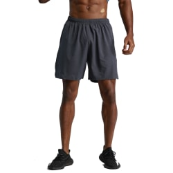 Men Basketball Sport Fitness Quick-drying Elastic Waist Pants Dark Grey M