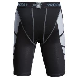 Män Gym Kompression Crop Legging Sport Slim Pant Fitness Byxa Picture Color M