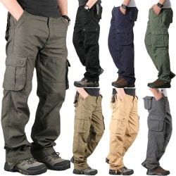 Men's Cargo Pants Casual Multi Pockets khaki 42
